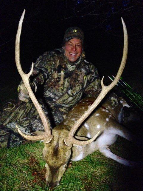 This big axis stag looks awesome and is great on the grill, too!