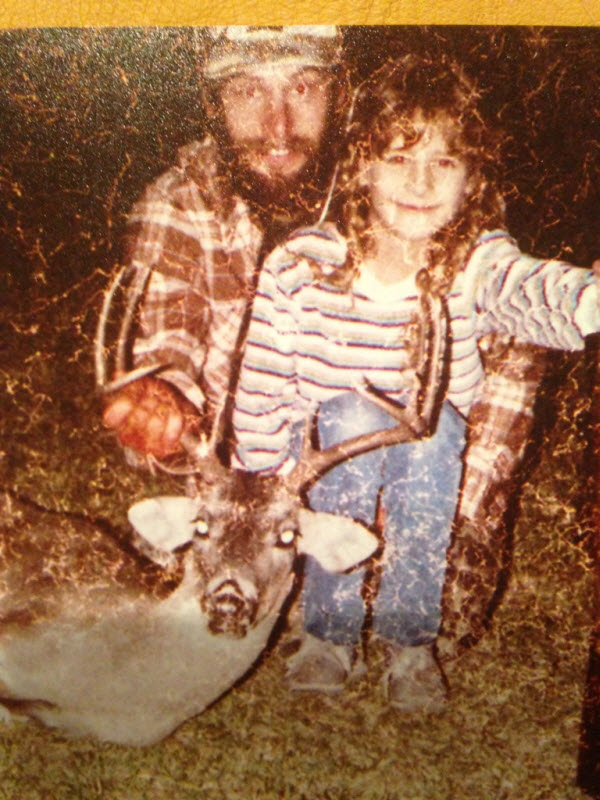Ted, in 1984 with daughter Sasha, at an early age developed a lifelong love affair with bows and bowhunting!