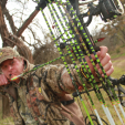 Uncle Ted's just about ready to put the full draw whack'em on some whitetails!