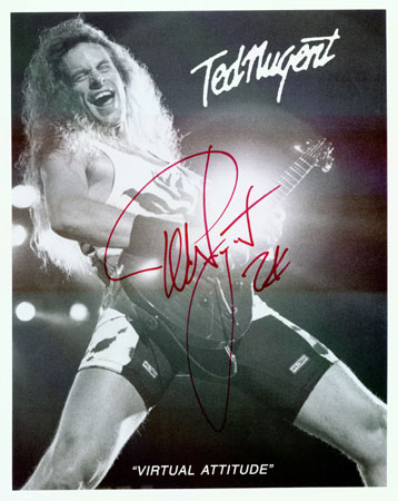 Ted Nugent autograph