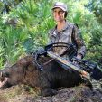 Shooting from a ground blind can have challenges. Hunting feral hogs, if you can, gives you some good practice with a crossbow and ground blind so you'll be ready during deer season.