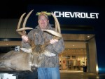 Terry Gibson with his giant typical 8-point that scored 170 2/8 that he killed in Alabama recently.