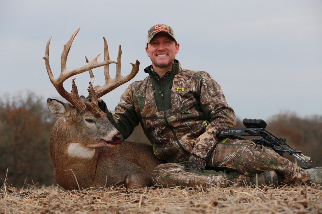 Good gracious, what a super buck! Tim Kent killed this dandy Iowa brute Nov. 3 with an Elite Energy 35. The deer scored 164-plus. Congrats!
