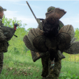 Turkey hunters with Avian-X decoy