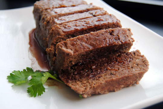 Venison Meatloaf with Cumberland Sauce