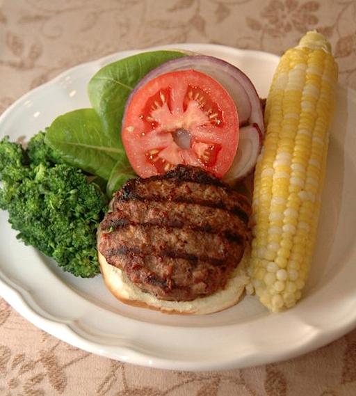 Venison burger from Venison Wisdom