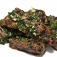 The chimichurri sauce on this venison has a nice mix of herbs without being too much. (Photo: Food for Hunters)