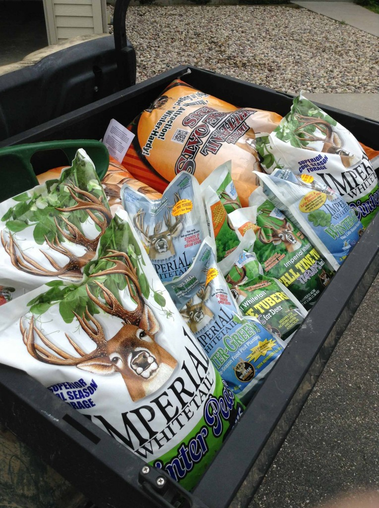 By staggering strips of different forages, you can provide a smorgasbord of food for hungry whitetails.