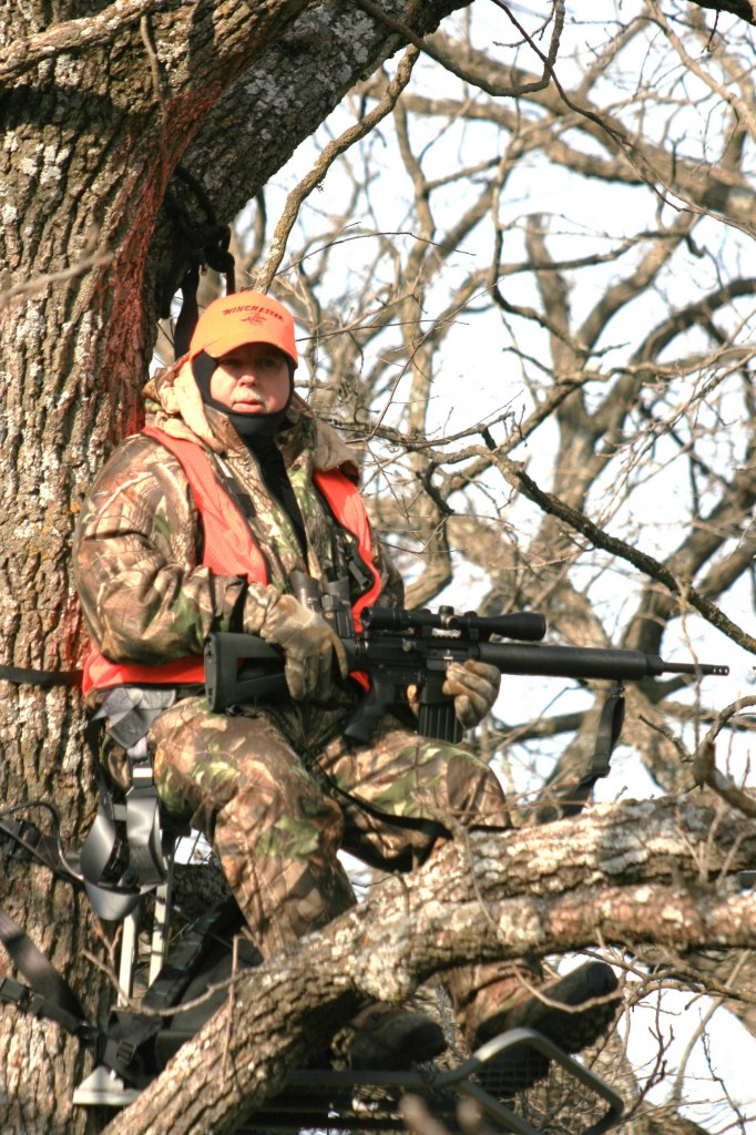 Deer Hunter with Modern Sporting Rifle