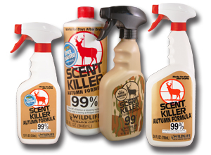 Wildlife Research Scent Killer is proven to help you stay odor-free.