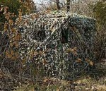 Portable pop-up ground blinds are great ways to hunt without climbing trees, can be moved easily, and can be spruced up with native vegetation or limbs. (Photo: Ameristep)