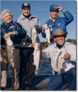 Bass fishing with George Bush and Ray Scott