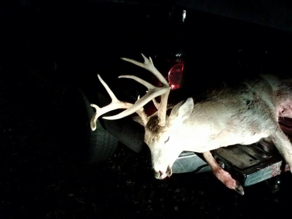 Chad's buck he harvested November 8th.