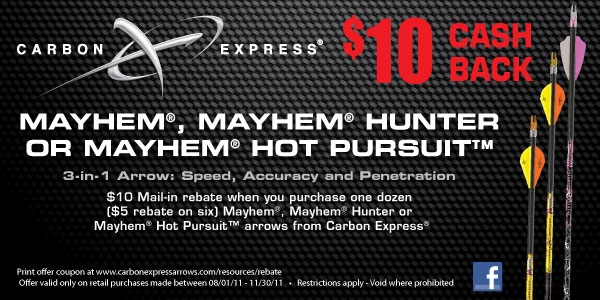 10 dollars back from Carbon Express rebate
