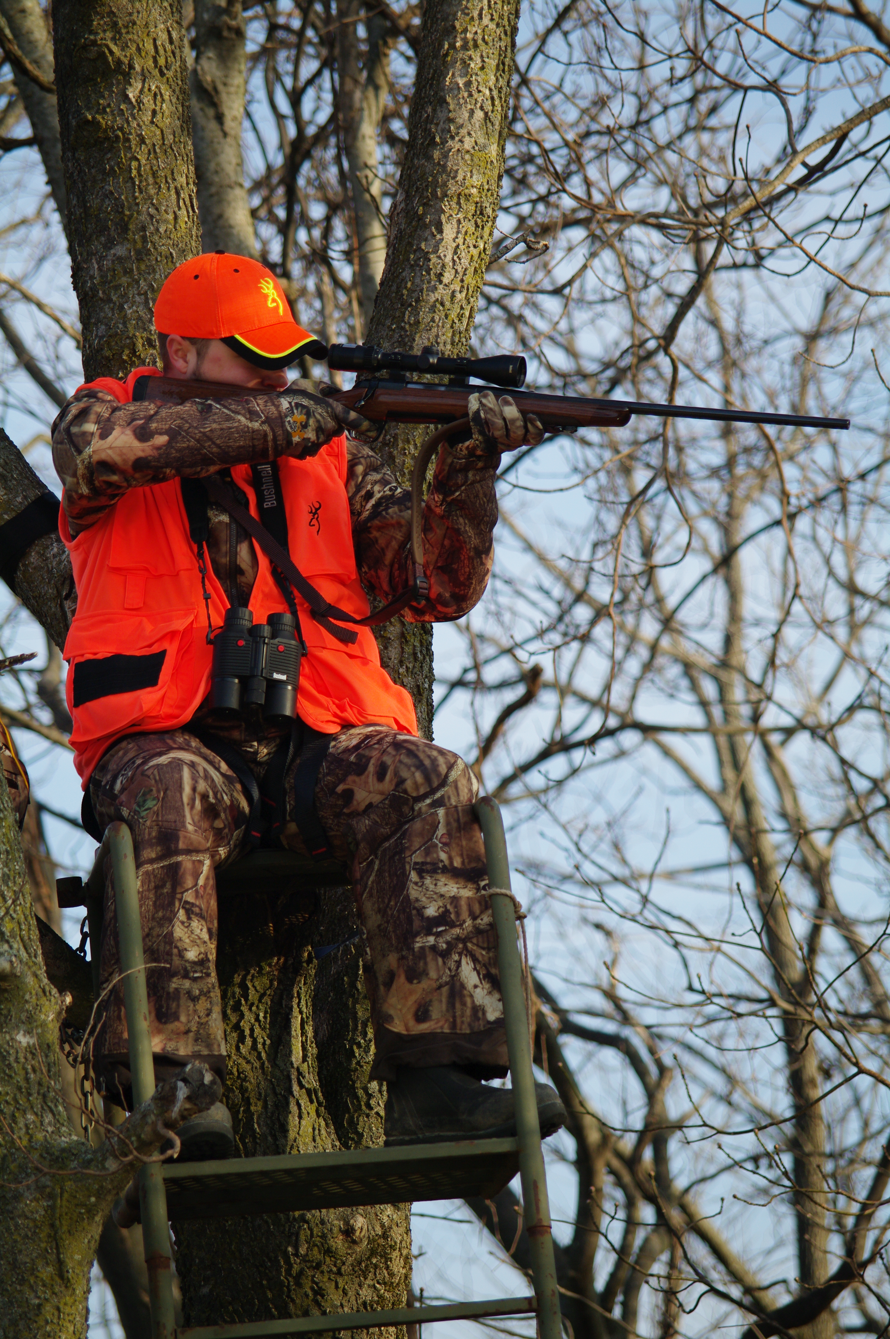 Today's modern hunter may use everything from a modern sporting rifle like this one to a traditional bow, wearing performance clothing or old school wool. Today's hunter spans the gamut.