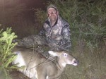 Deer & Deer Hunting's Dan Schmidt used a new attractant from Tink's to collect this big Wisconsin doe.