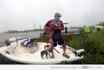 A Louisiana man saves a spotted fawn in the aftermath of Hurricane Isaac that hit the state in August.