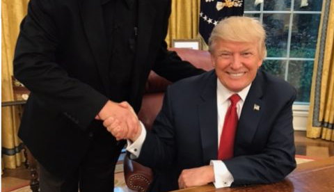DDH Writer Meets with President Trump