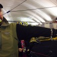 Deer & Deer Hunting Editor-in-Chief Dan Schmidt flings some arrows out of the new bows on display at this week's Mathews Archery retailer show in Wisconsin Dells, Wis.
