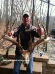 This giant 37 point nontypical buck was found by shed hunters in Missouri.
