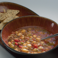 spicy venison hominy soup