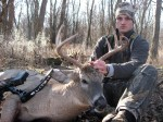 Tate DeMeulenaere with his first ever bow buck! Shot with the Elite Answer