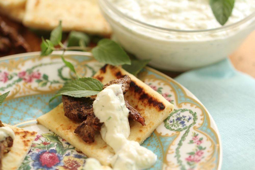 Tzatziki Venison is a great, easy dish to prepare as an appetizer for any party! (Photo: Stacey Harris)
